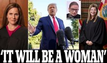Trump says his nomination for Supreme Court 'will be a very talented, very brilliant woman' because he likes them 'much more than I like men' as he calls Hispanic judge Barbara Lagoa an 'extraordinary person' and praises Amy Coney Barrett