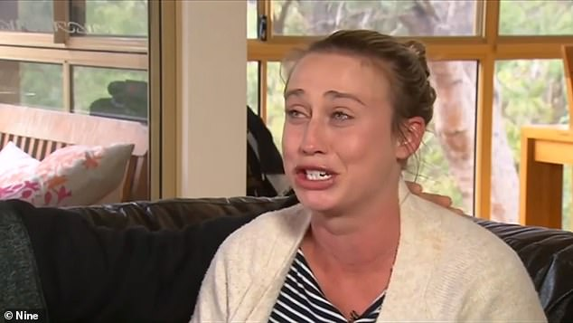 Michelle Buckley burst into tears as she recalled how she feared the worst about her little boy