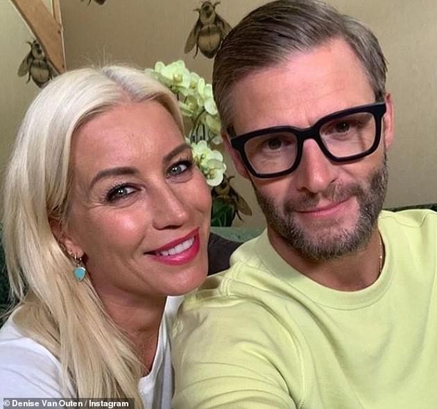 Also appearing? Denise Van Outen, pictured with her beau Eddie Boxshall, has also been tipped as a potential contestant on the show