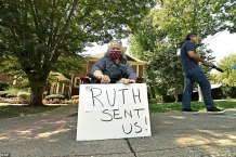 Protesters Gather Outside Mitch McConnell's House to Demand He Stop Pushing for SCOTUS Pick After Death of Ruth Bader Ginsburg