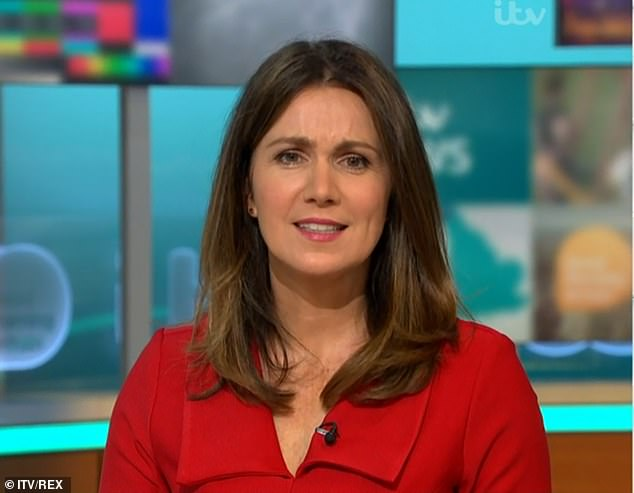 Stressful: The Good Morning Britain host, 49, discussed her anxiety issues that surfaced at the start of the pandemic in March and how she found the whole experience 'very scary'