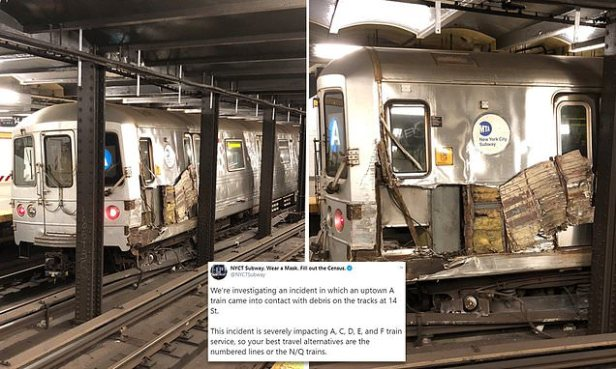 'Laughing man' derails Manhattan subway train