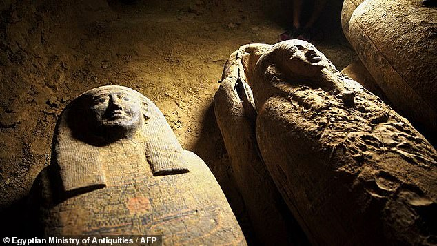 The archaeological transport of 27 sarcophagi is believed to be the largest of its kind ever