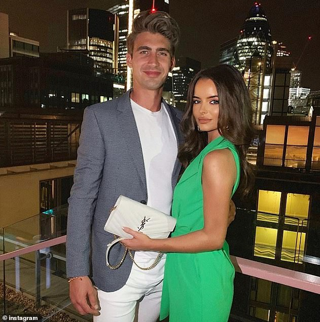 Rumours: The night out come after Maura was seen at Love Island co-star Chris Taylor's home with an overnight bag after spending an evening out with him last month
