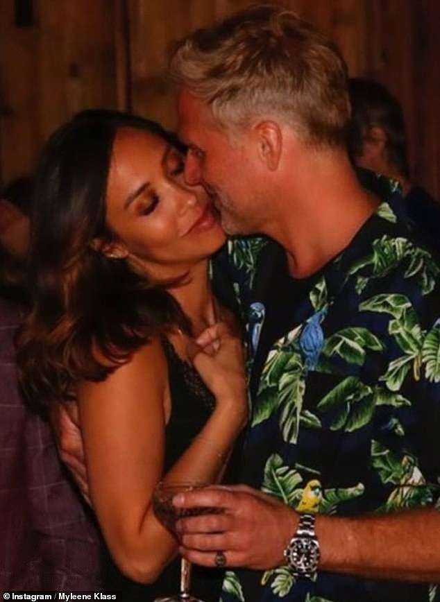 Happy news: The announcement comes just one week after Myleene revealed she was engaged to her beau Simon Motson