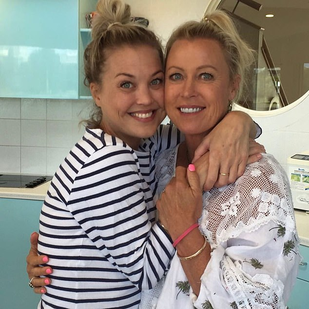 'Yesterday, as the sun was setting, we said goodbye to you': On Sunday, Jaimi's mother Lisa (right) shared a heartbreaking tribute to Instagram after farewelling her eldest child