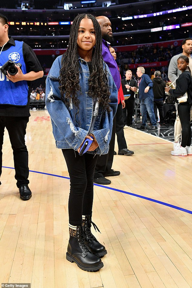 Growing up: Blue Ivy was snapped at a basketball game March 8