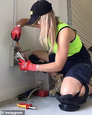 The government is reportedly considering wage subsidies to drive hiring. Pictured: An electrician at work
