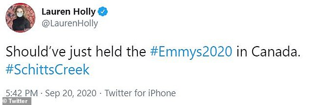 Oh, Canada: Another tweet said the Emmys should've been held in Canada