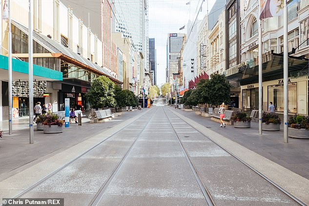 Melbourne's lockdown has put thousands of Victorians out of work. Pictured: Empty Bourke Street