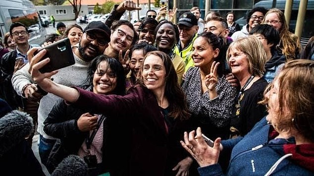 The New Zealand Prime Minister was pictured during a tour of Massey University (pictured) on Thursday last week while campaigning for New Zealand's October 17 Election