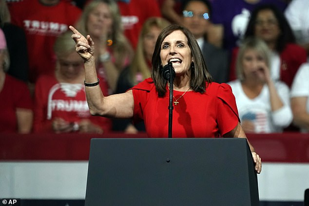 Kelly has maintained a consistent polling lead over Republican Senator Martha McSally (pictured), who was appointed to the seat held by John McCain, who died in 2018