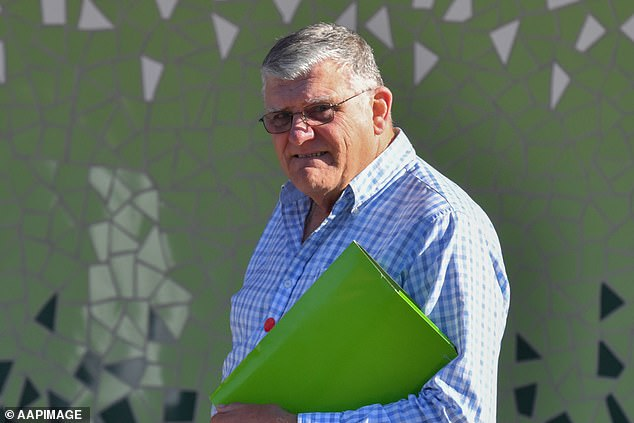 Ku-Ring-Gai Pistol Club president Neville 'Drew' Thornton (pictured) told the inquest Edwards was 'very demanding' and stated many times he 'had to be a member'