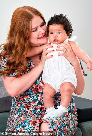 Daisy with her adorable baby girl Hope, who was born in June following two rounds of IVF