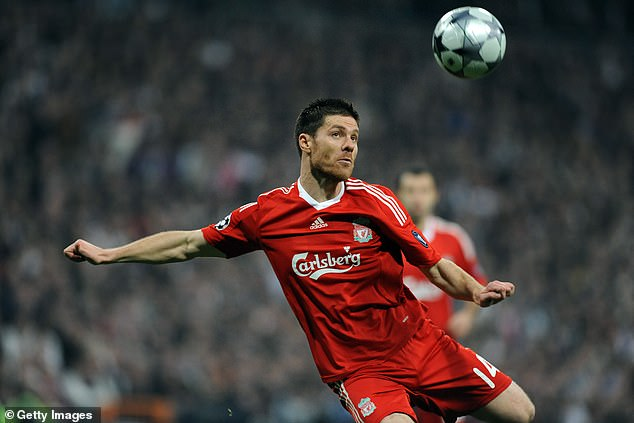 Xabi Alonso was also given a starting place in a holding role behind Gerrard and Lampard