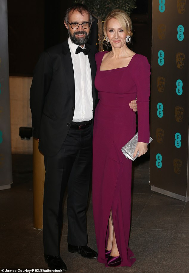 Touching:JK Rowling has offered a rare insight into her 19-year marriage to husband Neil Murray while discussing her favourite and most memorable songs