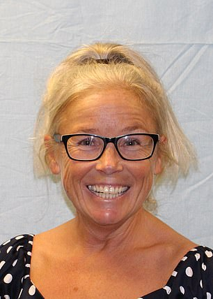 Relationships at the school 'soured' when Thomas discovered a holiday she had already booked flights for was authorised by 'mistake' and she was forced to cancel. Her row with headteacher Liz Webster (pictured) then escalated and Thomas began making a string of complaints to school governors, Portsmouth Crown Court heard today