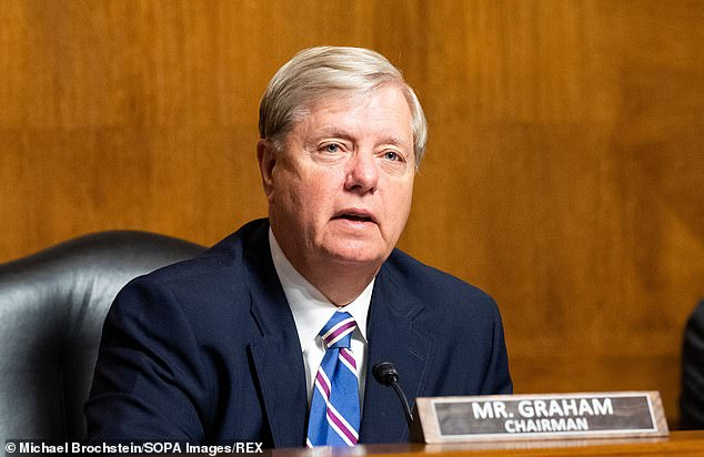 He was only rivaled in shamelessness by Senator Lindsey Graham, one of the GOP's grandees. In March 2016, Graham was absolutely emphatic that Scalia's replacement should be decided by whoever won that year's election. Yet on Saturday, before even 24 hours had elapsed since Justice Ginsburg died, the same Lindsey Graham tweeted: 'I will support President @realDonaldTrump in any effort to move forward regarding the recent vacancy created by the passing of Justice Ginsburg'