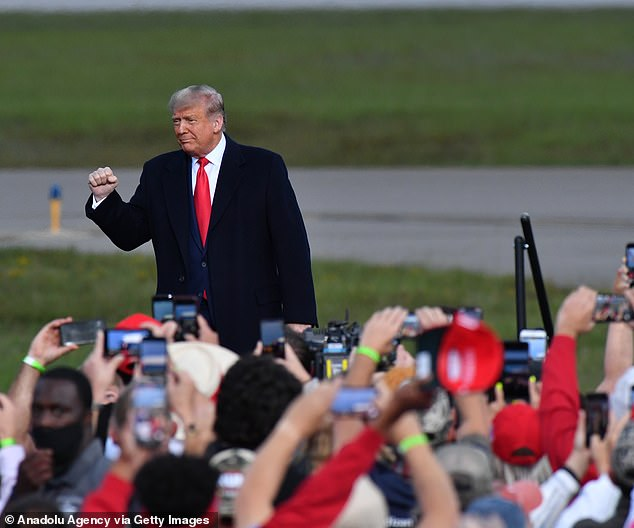 President Donald Trump said as long as Republicans hold the Senate they can do what they want on voting for a replacement for the late Supreme Court Justice Ruth Bader Ginsburg