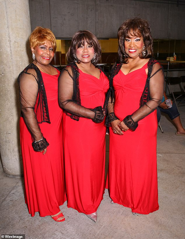 Pamela Hutchinson, Shelia Hutchinson and Wanda Hutchinson of The Emotions perform during the Ribs 'N' Soul Festival at Hart Plaza on August 1, 2009 in Detroit, Michigan