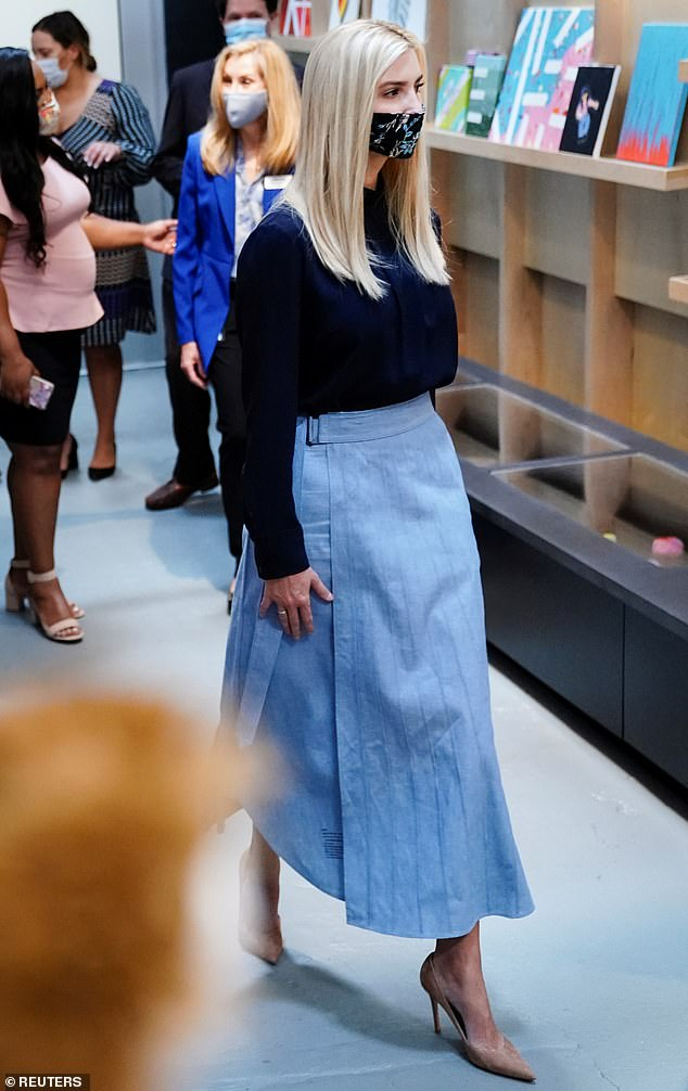 Tour: While visiting the Georgia Center for Child Advocacy, Ivanka learned more about the facility's 'Envision Project,' which offers support to survivors of trafficking