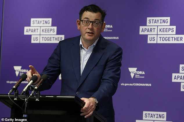 Nearly two thirds of Victorians believe Premier Daniel Andrews (pictured) has handled the coronavirus crisis well