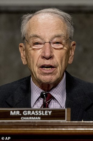 News of the nomination race tightening came as Republicans locked down a key swing vote in Iowa Sen Chuck Grassley, who announced that he would support moving forward with a confirmation hearing before the election