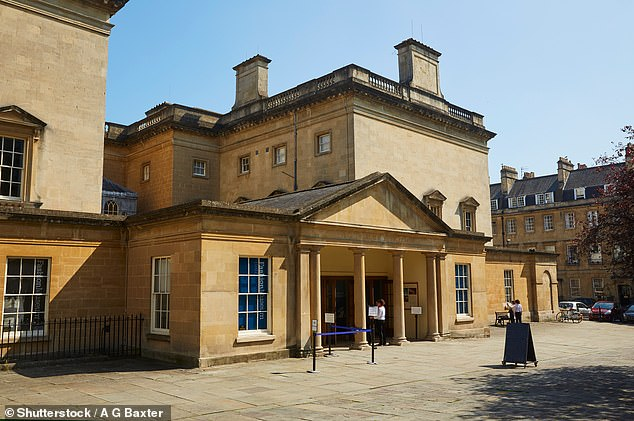 The Assembly Rooms in Bath (above) were named in the report due to the city's connections to the wider colonial and slave economies during the 18th Century