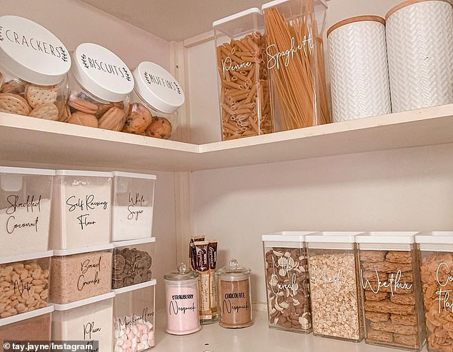 Many shoppers have been able to re-organised their entire pantry using canisters and pantry labels from the discount store. Prices for canisters range between $3.50 and $5
