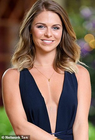 Other examples: Third-place contestant Tara Pavlovic (pictured) was also the first to be shown in promos during Matty Johnson's season in 2017