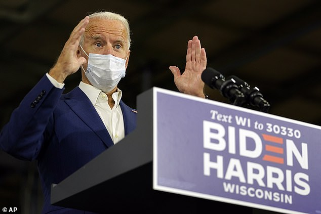 Joe Biden (pictured): 'Due to Donald Trump's lies and incompetence, the past six months have seen the one of the greatest losses of life in American history'