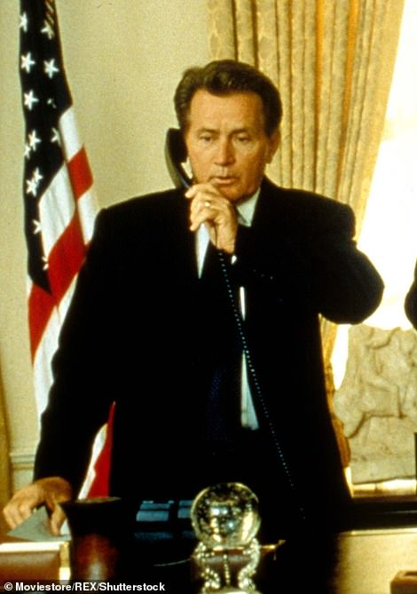 In the oval office: Martin's take on the Presidential character earned him a Golden Globe for Best Actor