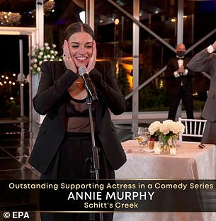 Annie Murphy won Emmys in the Supporting Actress category