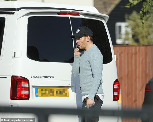 Camper van:It comes after the former EastEnders star purchased the pristine white van as a surprise for his girlfriend Stacey which she dubbed a 'monstrosity' on Saturday
