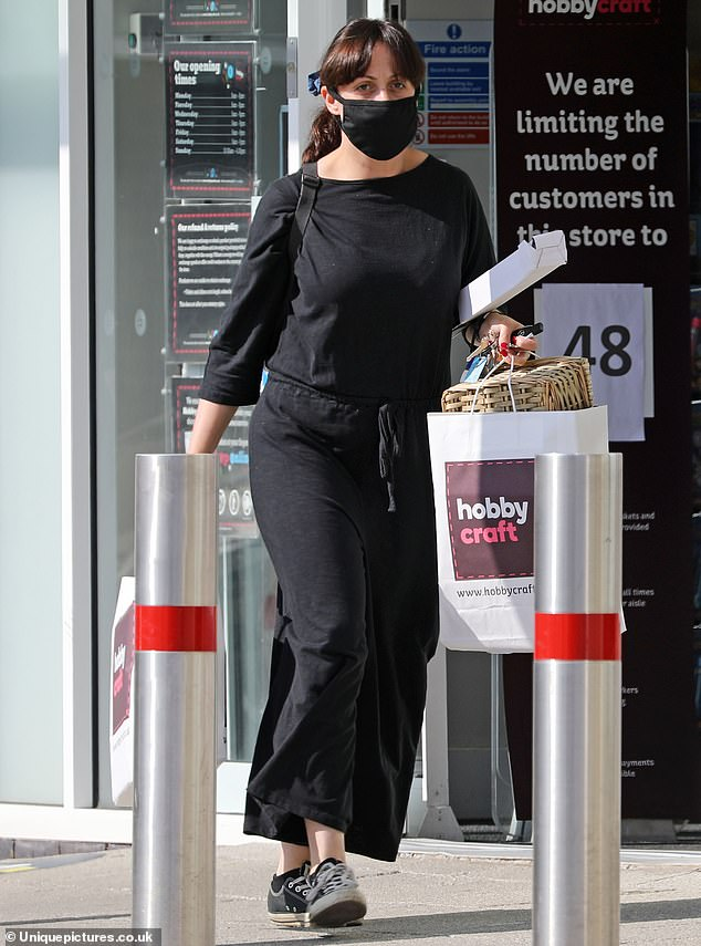 Low-key: Natalie Cassidy cut a low-key figure on Monday as she displayed her slim figure in Essex during a shopping trip