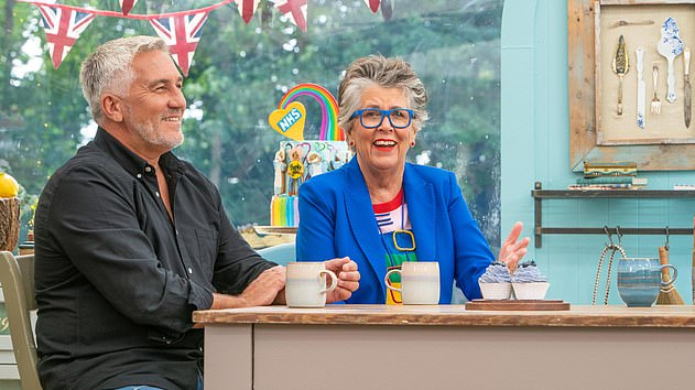 Funny: The Great British Bake Off is set to return with innuendos galore alongside baked bare breasts and a cartoon tribute to the very 'well-endowed' squirrel mascot