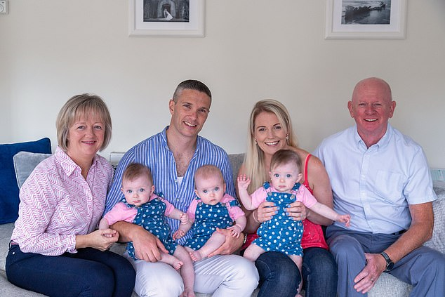 Niamh said she can't wait to tell her daughters about what her father did when they grow up. Pictured: Niamh and Jeff with their daughters