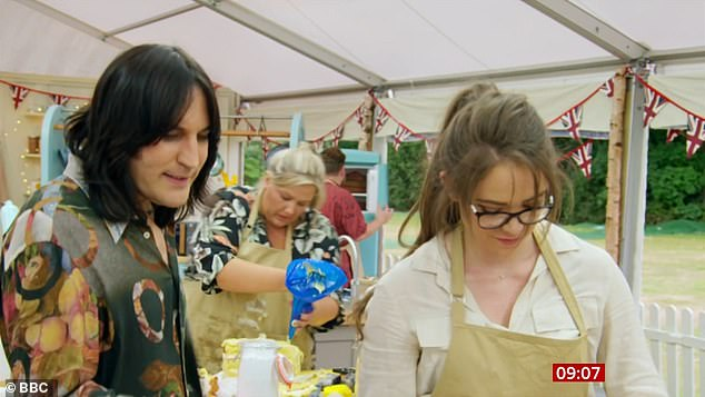 It's back! The first episode of the new series of GBBO saw pantomime producer Lottie, 31, mocked for her showstopper take on Louis Theroux's head