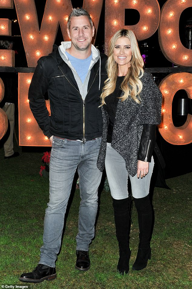Happier times: Christina and the For The Love Of Cars presenter wed on December 22nd, 2018, and share son Hudson London, whose first birthday they celebrated earlier this month. Seen here in 2019