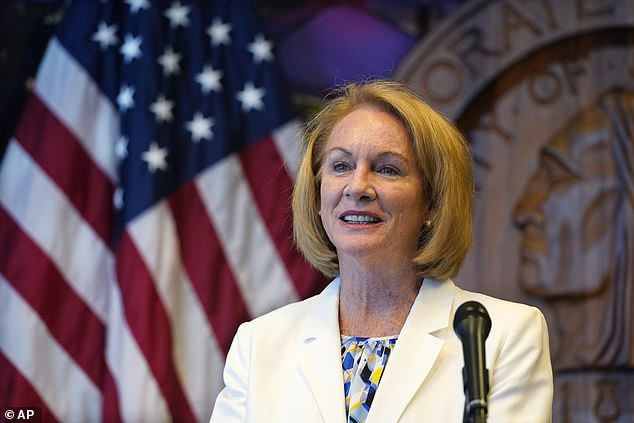 As part of the $12,500 a month deal, Taylor will provide recommendations to the city on de-escalation, community engagement, and alternatives to policing as Seattle Mayor Jenny Durkan (pictured) aims to improve relations between cops and community members