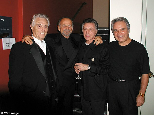 With his pals: Tommy with Joe Pesci, Frankie Valli and Charlie Calello in 2005