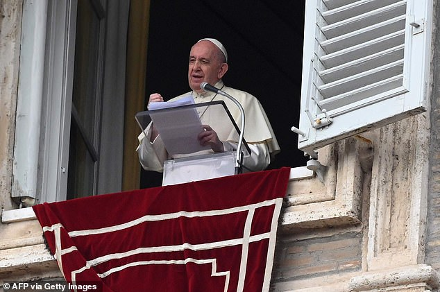 Pope Francis (pictured Sunday) has previously asked medics to 'reject the temptation' to facilitate euthanasia and assisted suicide