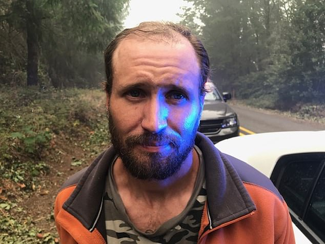 Buck Adam Nickel, 41, attempted to steal a tractor being used by another couple to help people evacuate from the area but were caught by deputies on September 11