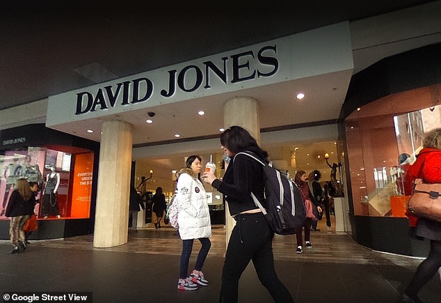 The David Jones 'women's store' on Bourke Street in the Melbourne CBD.The larger 'women's store' will absorb the smaller 'men's store' and food hall across the road, which was sold in July for $121 million