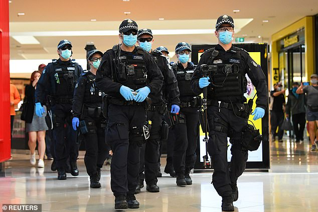 Ross Gillies QC, told Daily Mail Australia he fears power-hungry officials who enjoy exerting authority may abuse the powers given to them. Pictured: Police on Sunday