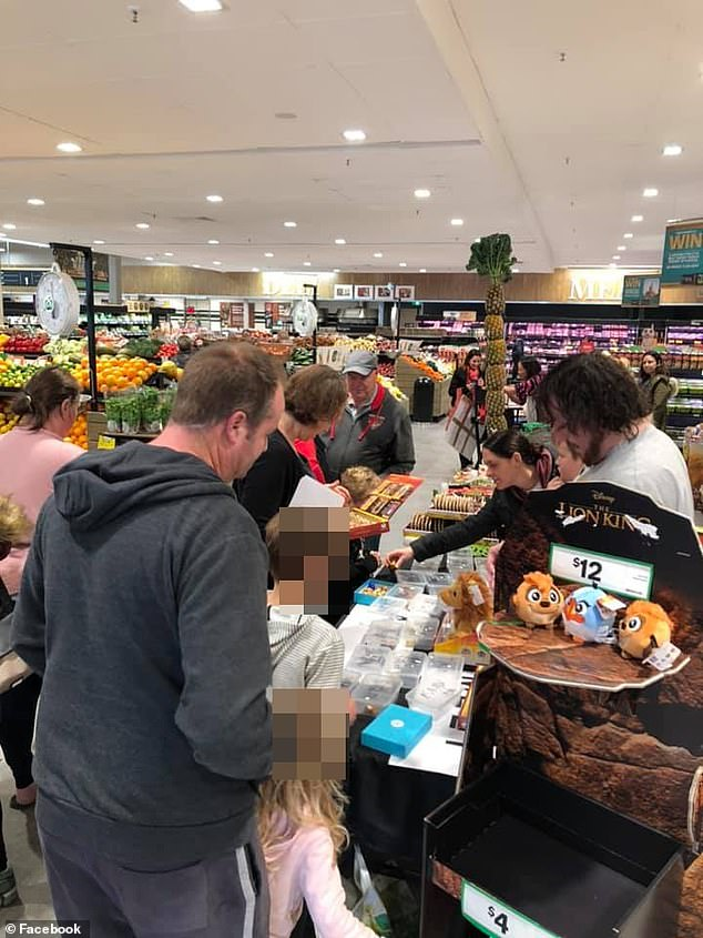 Woolworths employees and shoppers (pictured in a Woolworths store) took to social media to share instances where staff had been mistreated over the Ooshie collectables