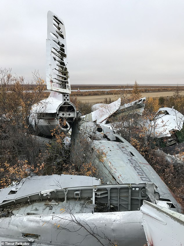 An Antonov-2B - number СССР-09260 - lying among the other debris, 'is not as humble as it looks', said Fatkulov, with images showing parts of the plane strewn across the ground