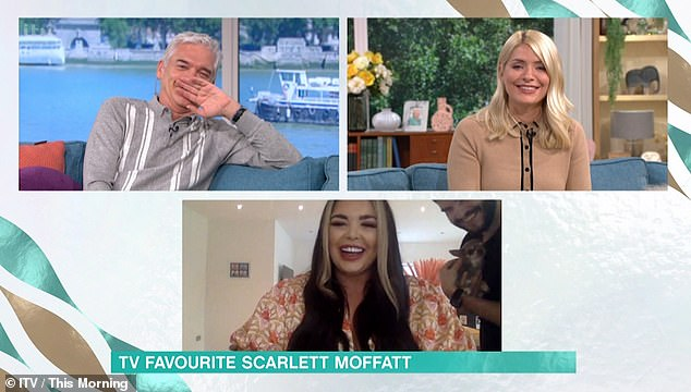 With Phillip Schofield adding: 'Bonny, Bonny, not bunny!' Holly was left in hysterics as she put her head in her hands and replied: 'I thought you said bunny! I thought you had a pet rabbit! I'm sorry!'