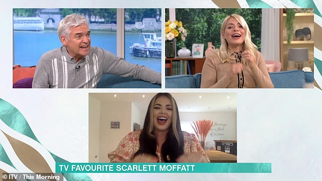 Exciting:Elsewhere in the interview, Scarlett teased details of ITV2's new show Celebrity Karaoke Club which will be airing at 10pm