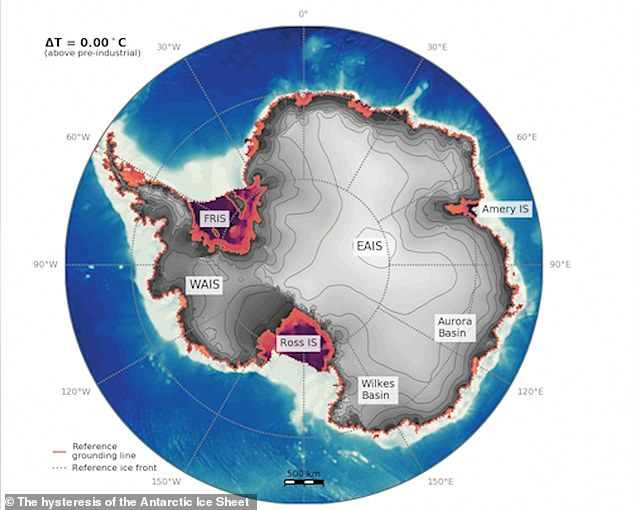This is what Antarctica looks like today